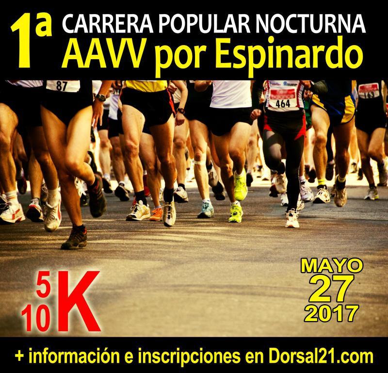 Cartel I Carrera Popular nocturna AAVV Espinardo