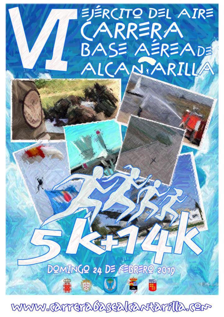 Cartel VI Carrera Popular Base Aérea de Alcantarilla