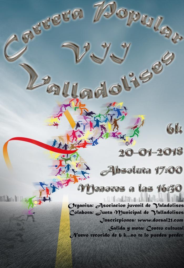 Cartel VII Carrera Popular Valladolises