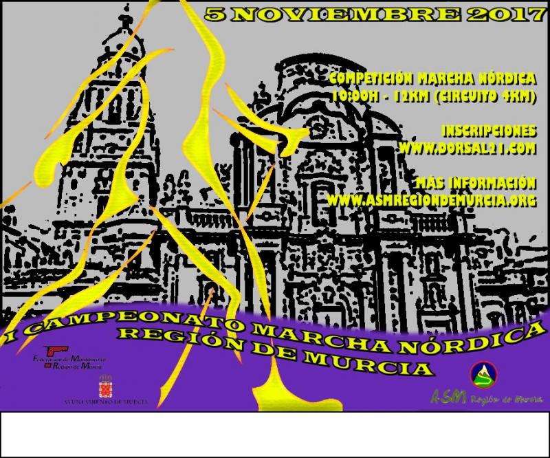 Cartel I Campeonato Marcha Nordica Region de Murcia