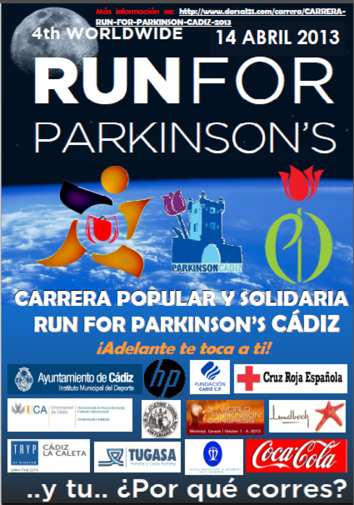 Cartel CARRERA RUN FOR PARKINSON CADIZ 2013